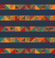 boho seamless squares lines vector image vector image
