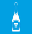 bottle of champagne icon white vector image vector image