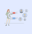 business digital marketing promotion vector image