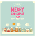 Christmas Little Town vector image vector image