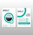 Circle annual report Leaflet Brochure template set vector image vector image