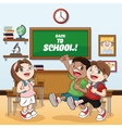 classroom back to school design vector image vector image