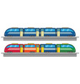 colorful train running on his track vector image