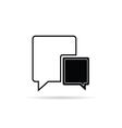 comic speech bubble black vector image vector image