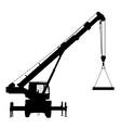Crane Silhouette on a white background vector image vector image