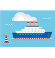 cruise ship quot vector image