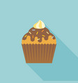 cup cake icon with cream and coating sugar vector image