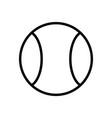 dog ball icon vector image vector image
