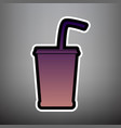 drink sign violet gradient vector image