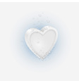 Effervescent tablet in shaped Heart vector image vector image