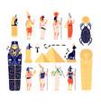 egyptian elements ancient egypt gods goddess vector image