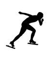 female speed skater athlete vector image vector image