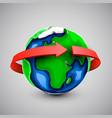 globe design with around world arrow vector image vector image