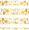 gold foil tropical stripes seamless pattern vector image