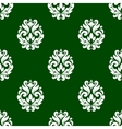 Green floral damask style seamless pattern vector image vector image