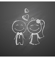 hand drawn wedding couple vector image