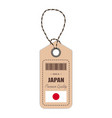 hang tag made in japan with flag icon isolated on vector image vector image