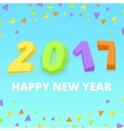 Happy new year postre vector image vector image