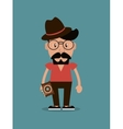 hipster man and photographic camera image vector image vector image