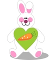 Holiday hare gift carrot in color 07 vector image vector image