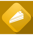 icon of Pie with a long shadow vector image vector image