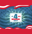 independence day 4th july vector image vector image