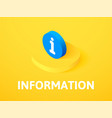 information isometric icon isolated on color vector image