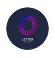 letter o latin alphabet display vector image