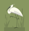 little egret minimalistic image vector image vector image