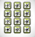 Metal keypad vector image
