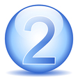 Number two button vector image vector image