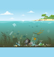ocean water full of vector image vector image