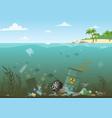 ocean water full vector image