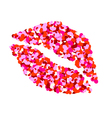 One kiss for Valentines Day vector image vector image