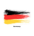 painted grunge german flag brush strokes on white vector image