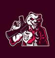 panda shooter mascot vector image vector image