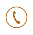 phone handset icon vector image