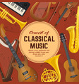 poster for classical music instruments sound vector image