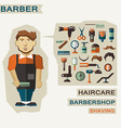 Profession of people Flat infographic Barber vector image vector image