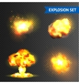 Realistic Explosions Set vector image vector image