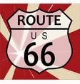 route 66 splash vector image