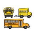 school bus yellow car vector image vector image