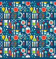 science laboratory tile pattern vector image