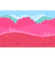 Seamless Landscape of Grassy Road and Pink Hills vector image vector image