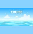 seascape with copyspace banner for cruise vector image vector image