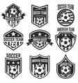 set american soccer team labels emblems vector image vector image