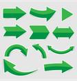 set green arrow stickers vector image vector image