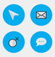 set of simple ui icons elements pointer female vector image vector image