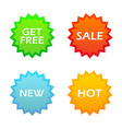 Set of tags for internet shoping vector image vector image