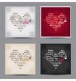 set valentine day typography design words vector image